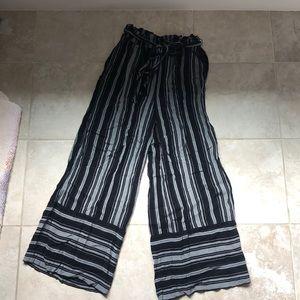 Linen striped American eagle pants